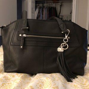 Tignanello Black Leather Bag